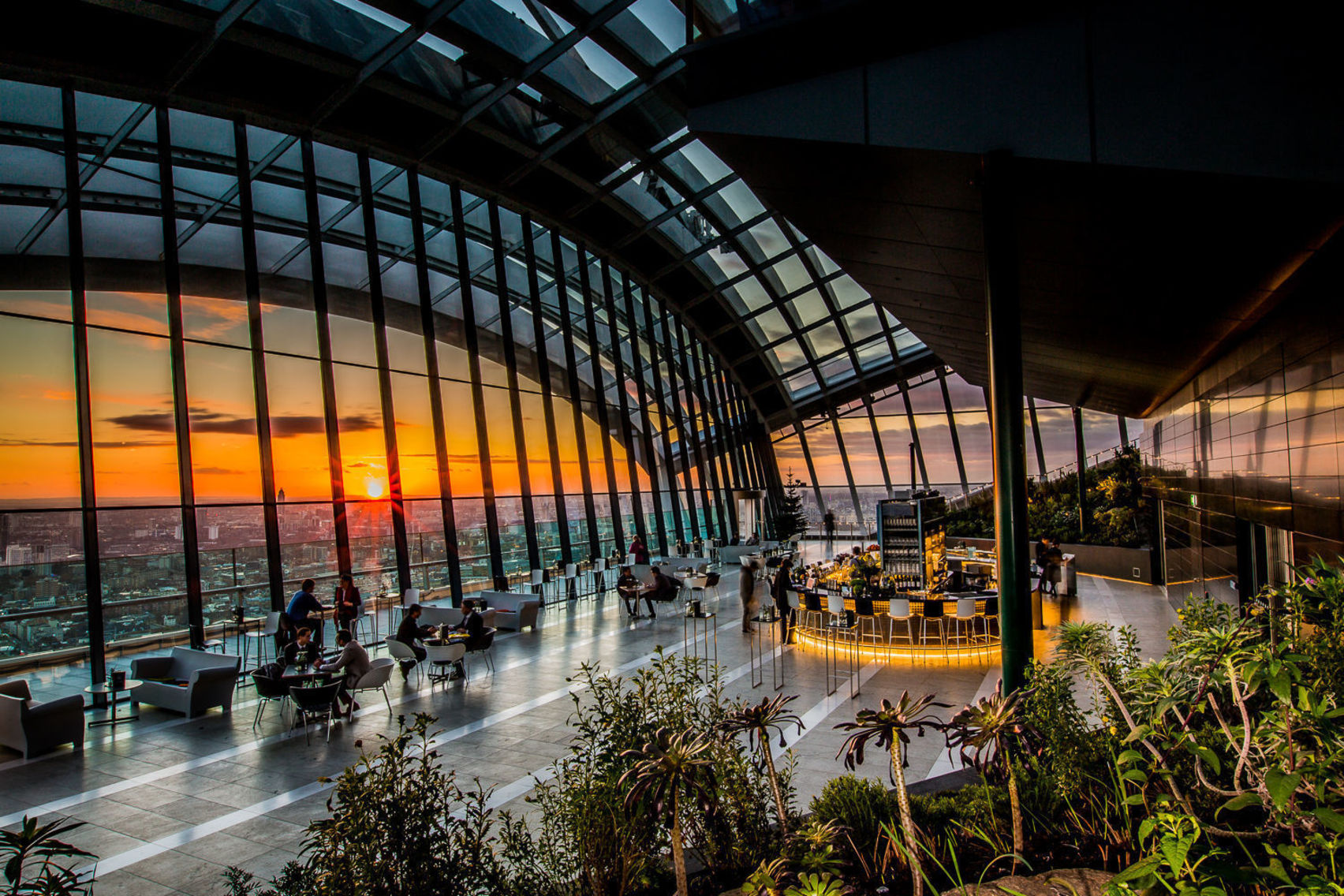 The event space at the sky garden in London