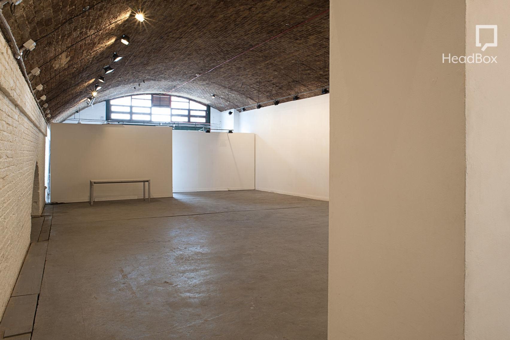 A blank canvas archway studio