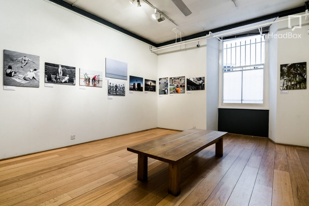 north gallery with art on walls