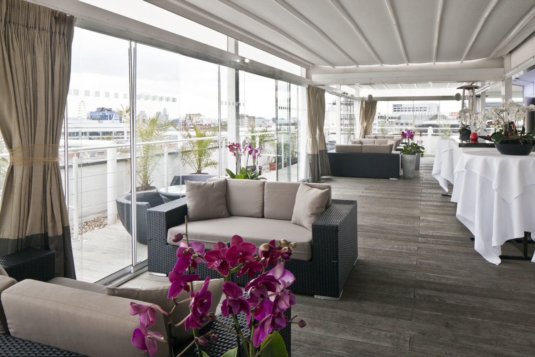 A top floor space with an outdoor roof terrace