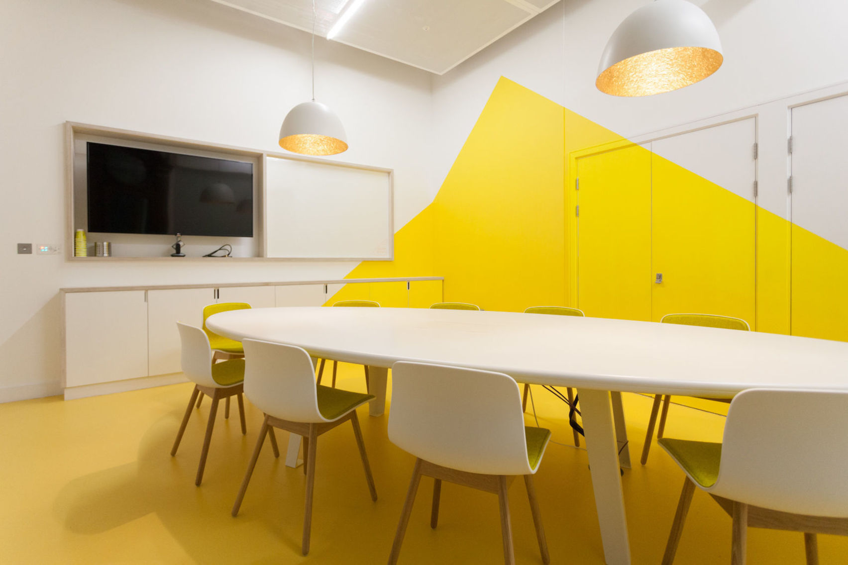 Unusual venues in london for hire from headbox for Office design yellow
