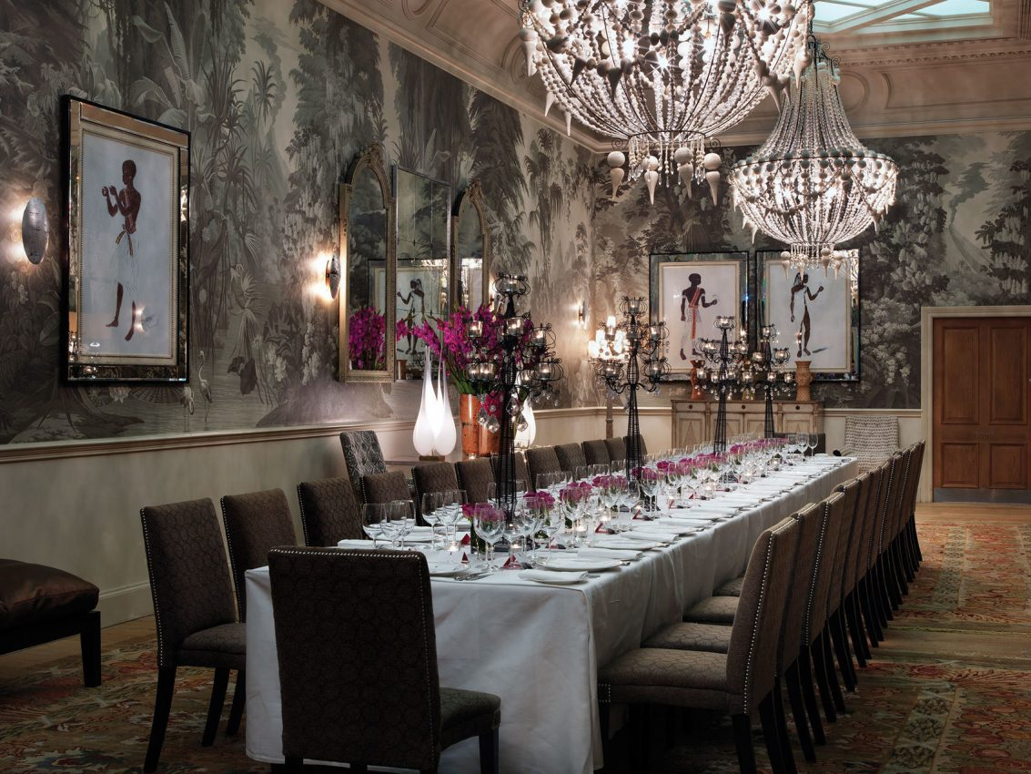old fashioned rustic private dining room