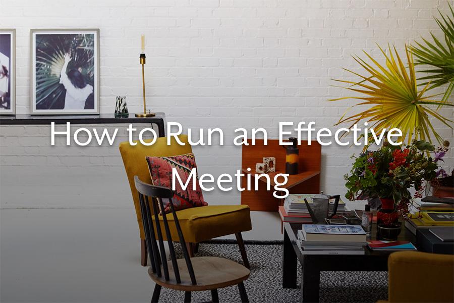 how to run an efficient meeting