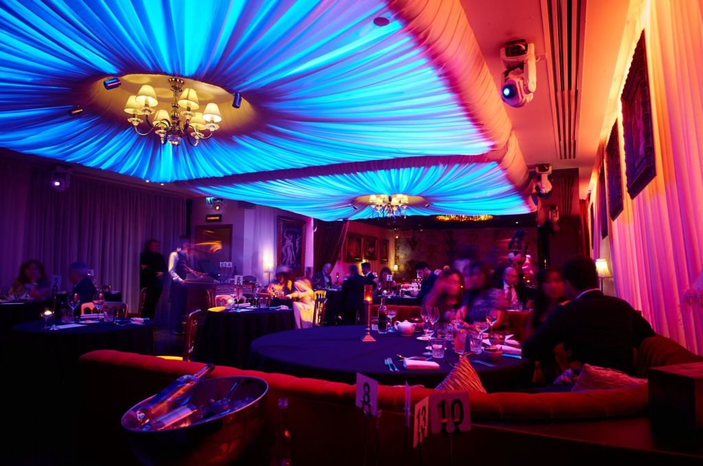 Christmas Party Ideas In London Part - 17: Atmospheric Nightclub, Baroque, Playboy Club London Has A Bright Blue Light  Feature On The. One Great Christmas Party ...