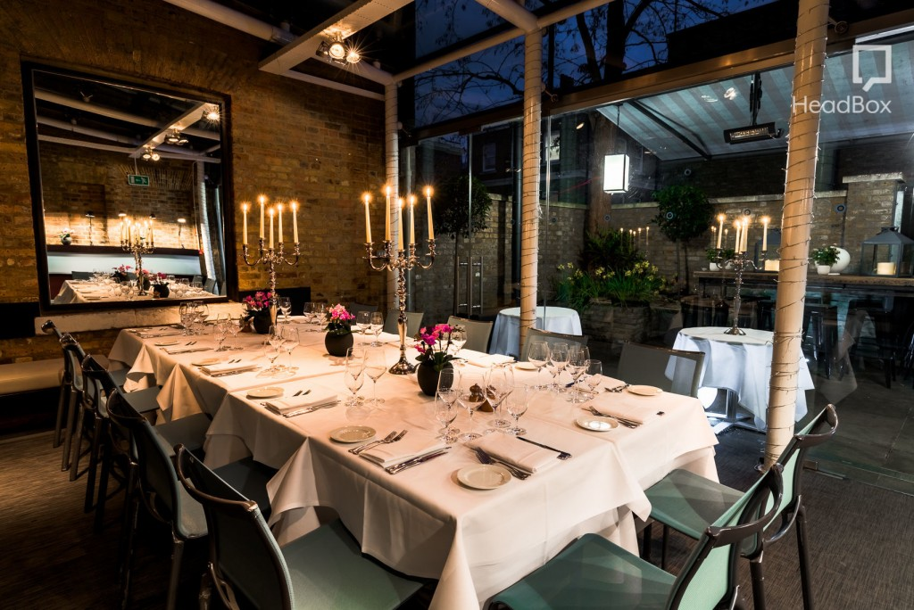 Conservatory, Manicomio Chelsea Is A Dark Atmospheric Private Dining Room  With A Large Table In