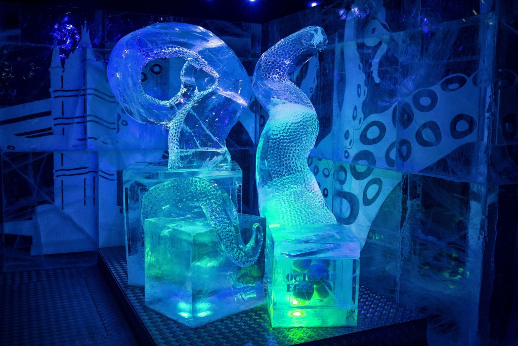 ice sculpture at Icebox Mayfair
