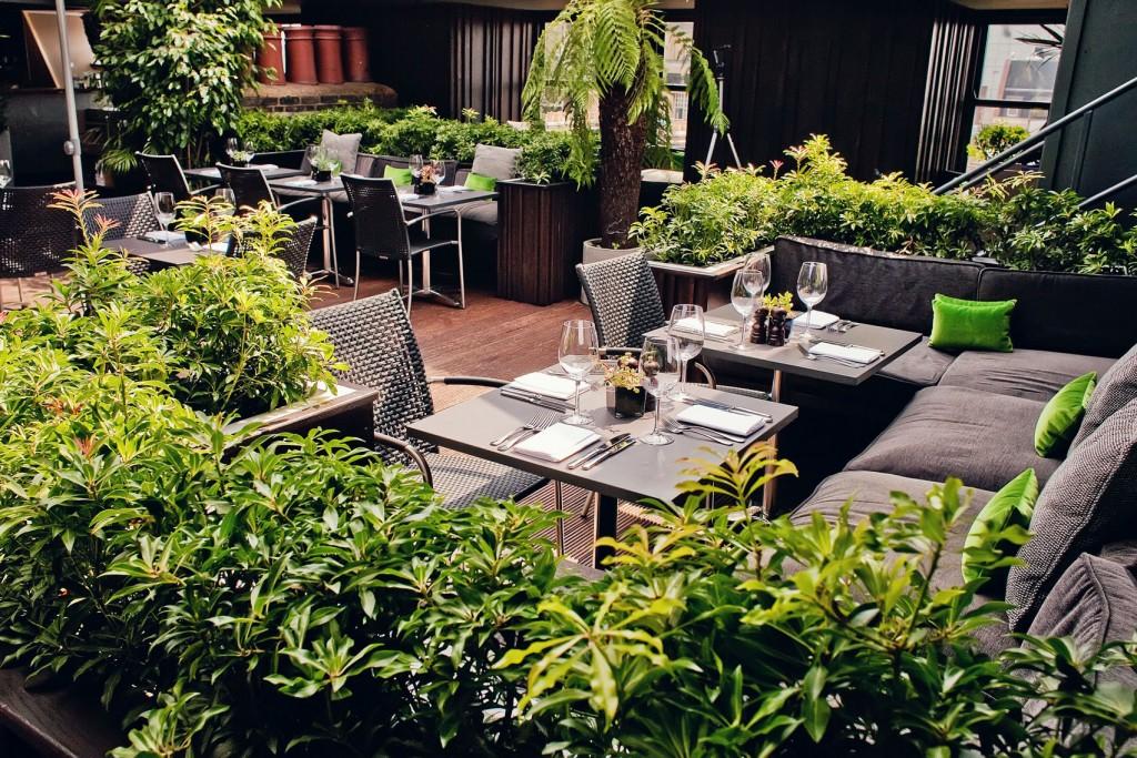 Century Club terrace private dining soho