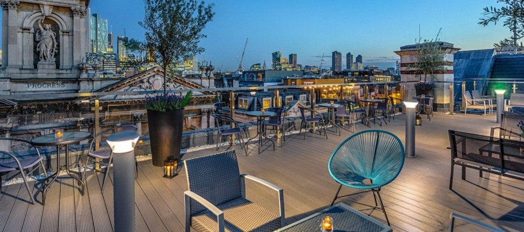 Shoreditch Sky Terrace, Courthouse Hotel Shoreditch, summer party venues london