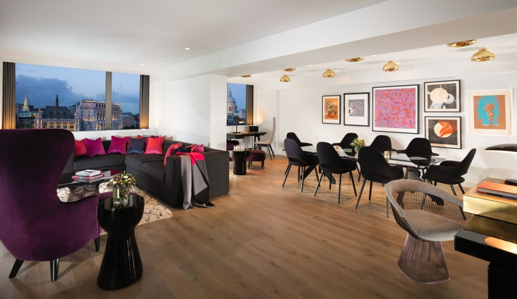 large apartment overlooking the River Thames