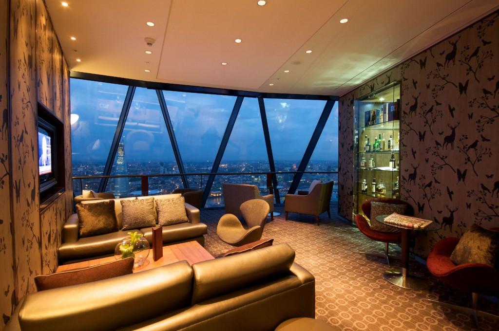 stylish space with window overlooking London