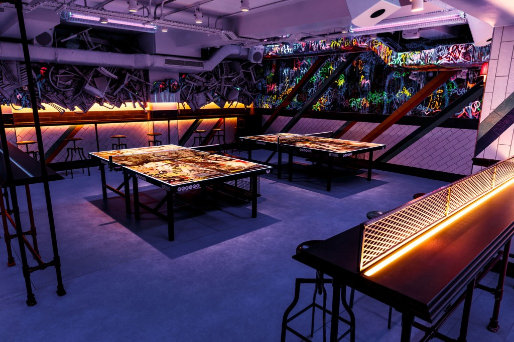 Bounce with two ping pong tables