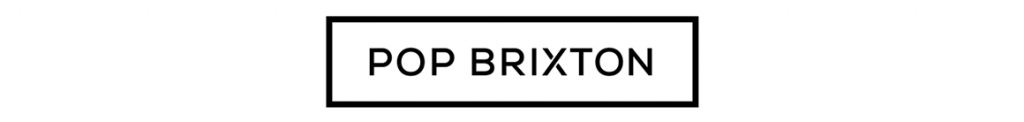 'Pop Brixton Logo' written in black