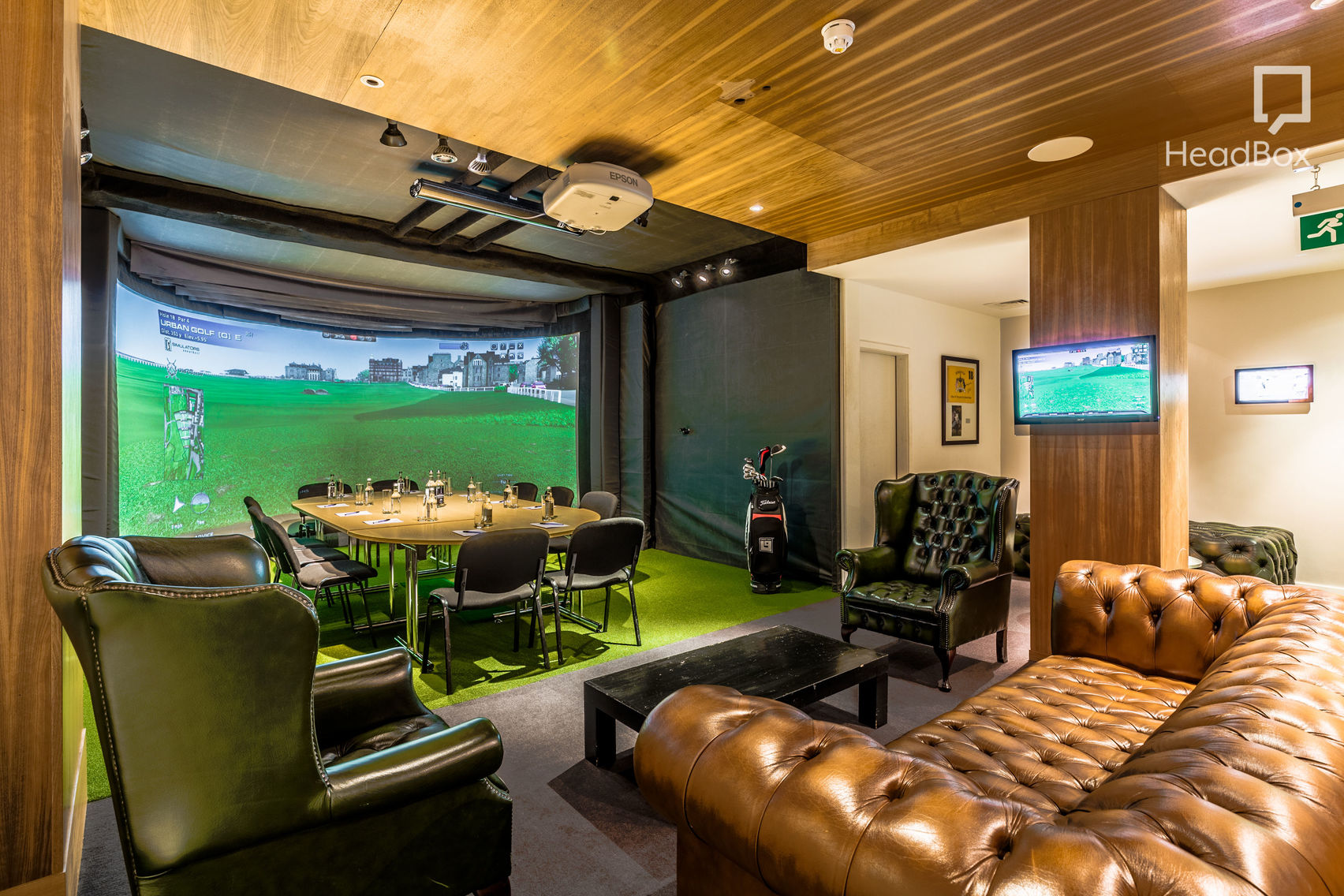 golf stimulator and meeting room, Farringdon.
