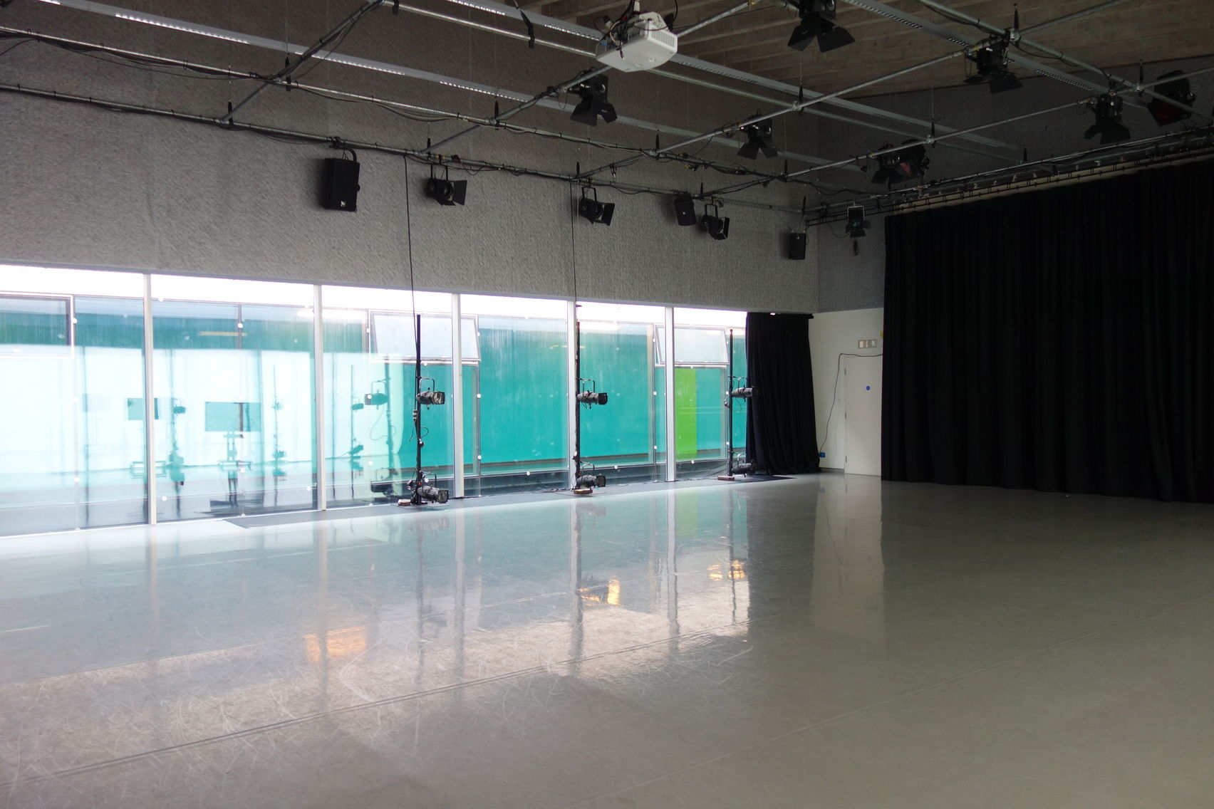 Large studio and theatre space at Laban