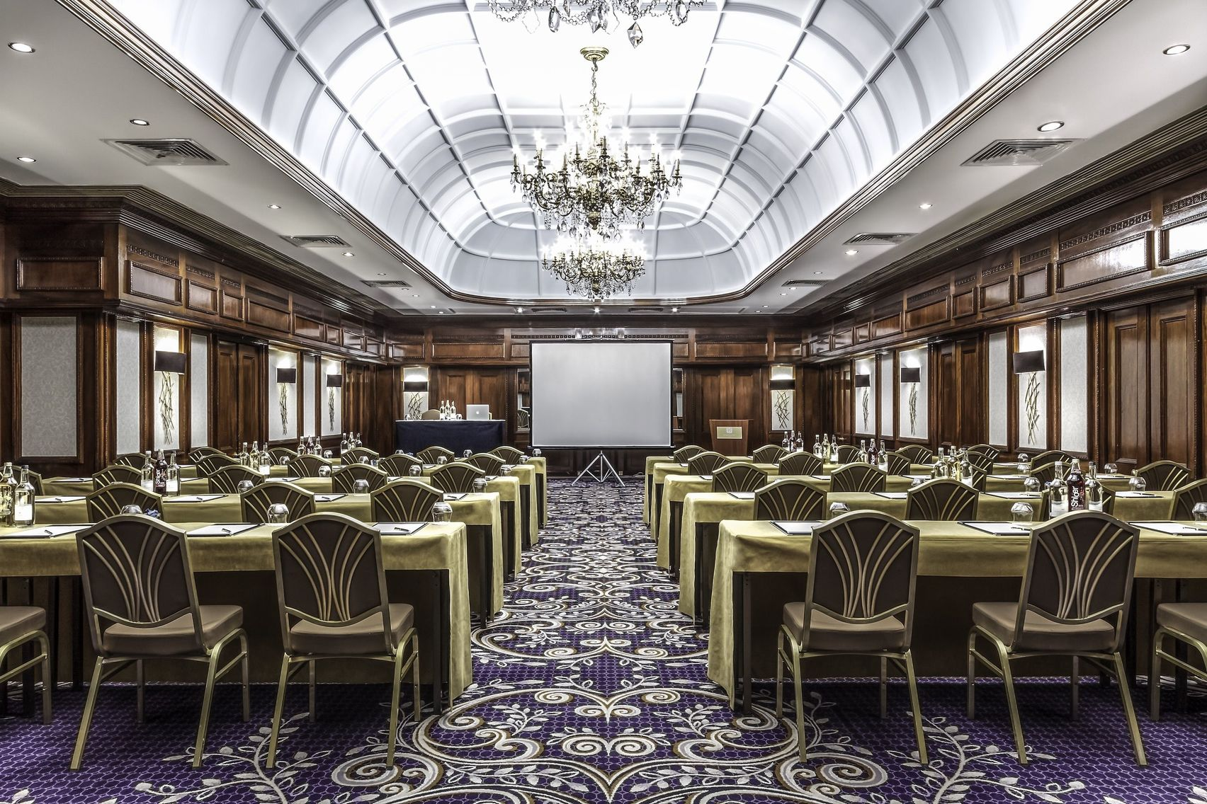 An Edwardian conference room with a skylight