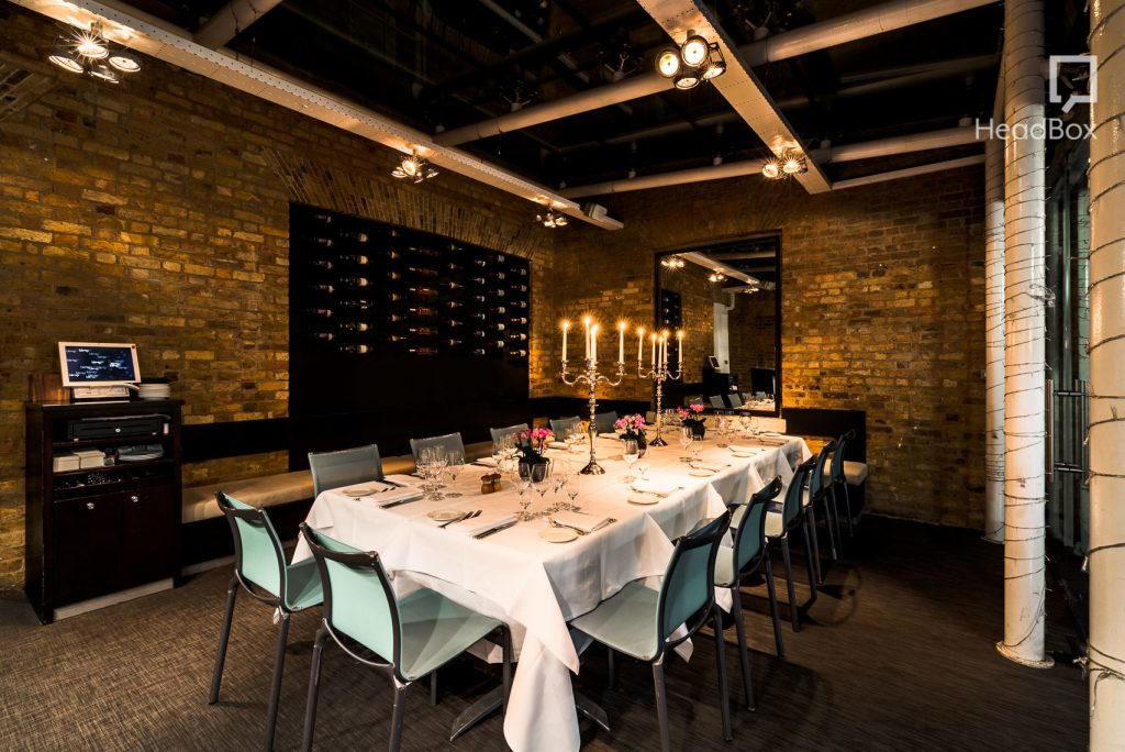 brickwork dining room at manicomio chelsea