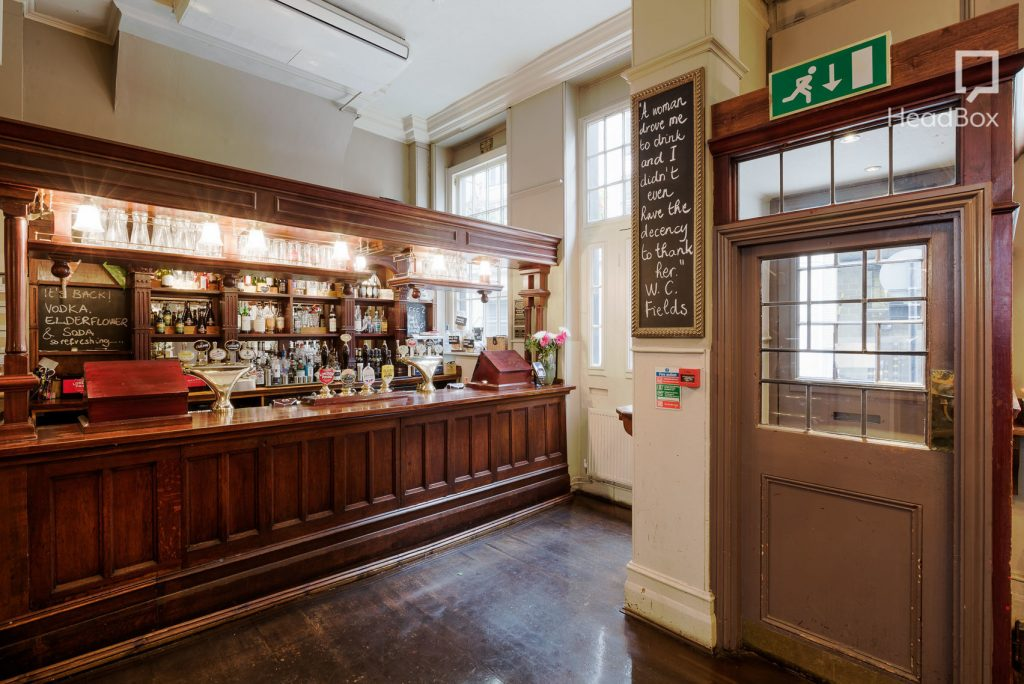 a traditional london pub which is perfect for hosting a Christmas party venue
