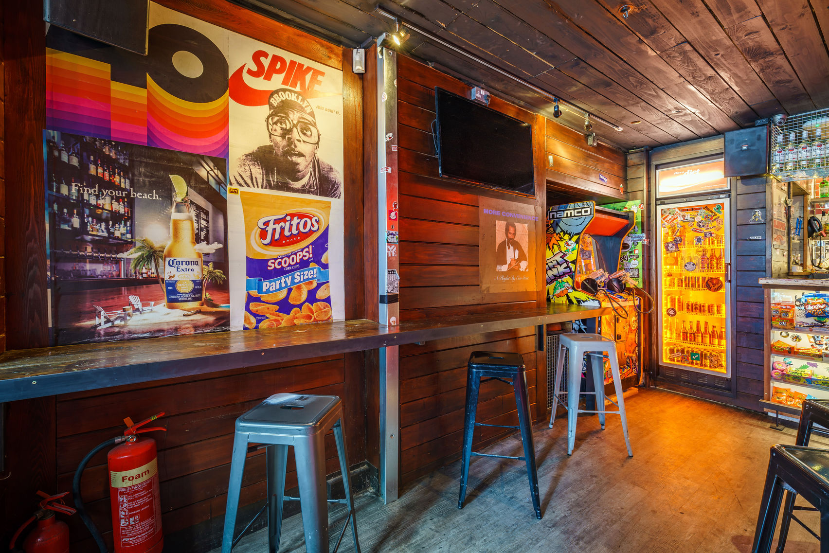 A mock-up convenience store which is actually a Northern quarter bar