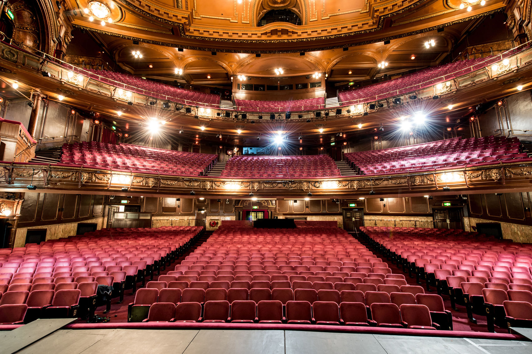 The view of the London Palladium from the stage