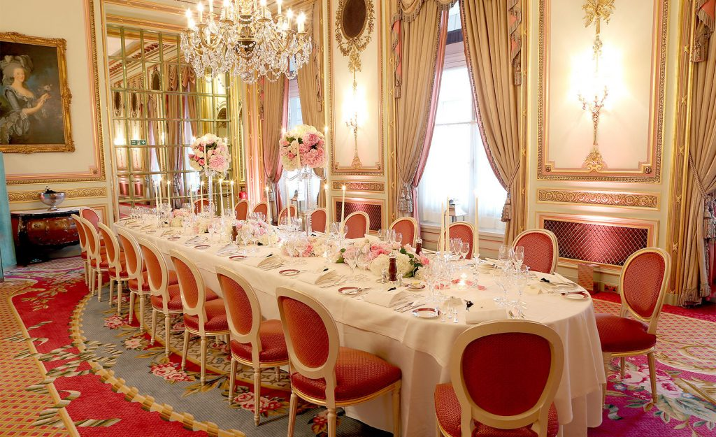 a regal private dining room.