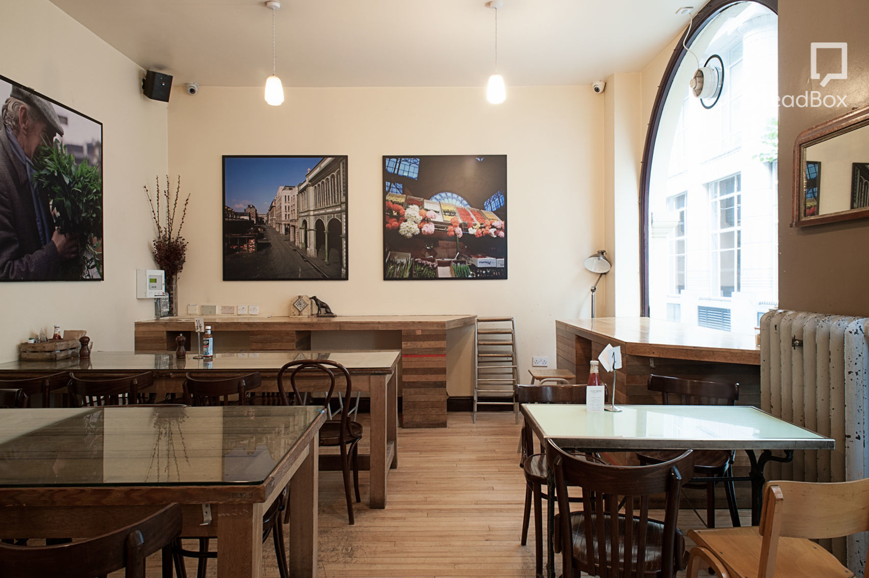 A bright cafe in Holborn