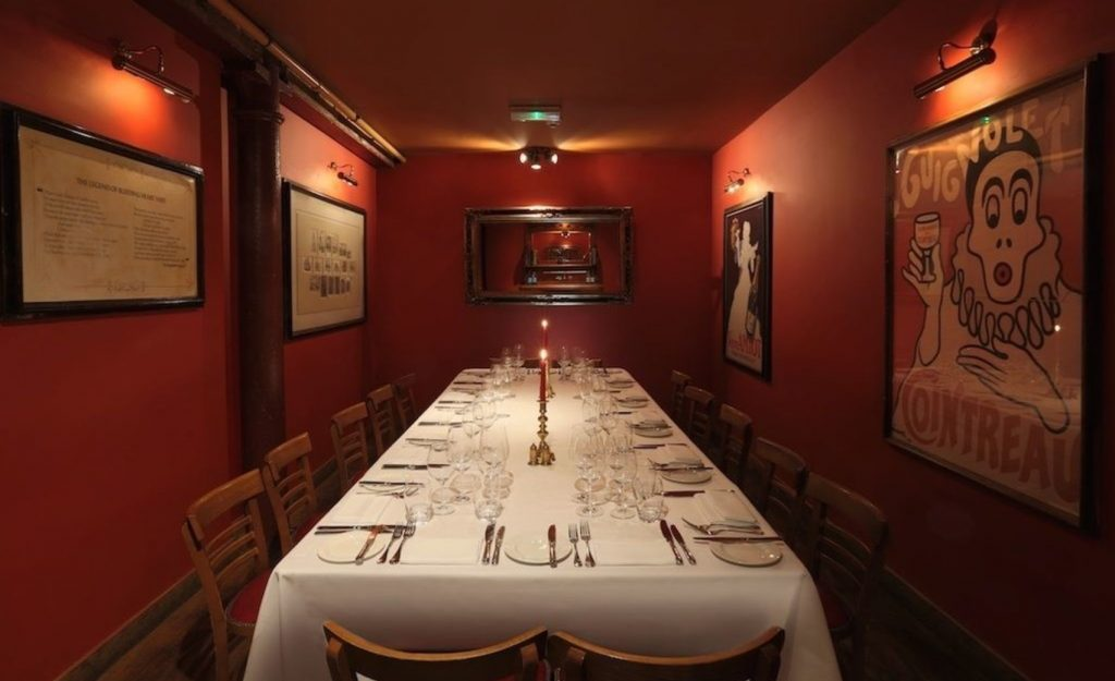 red wall London private dining room