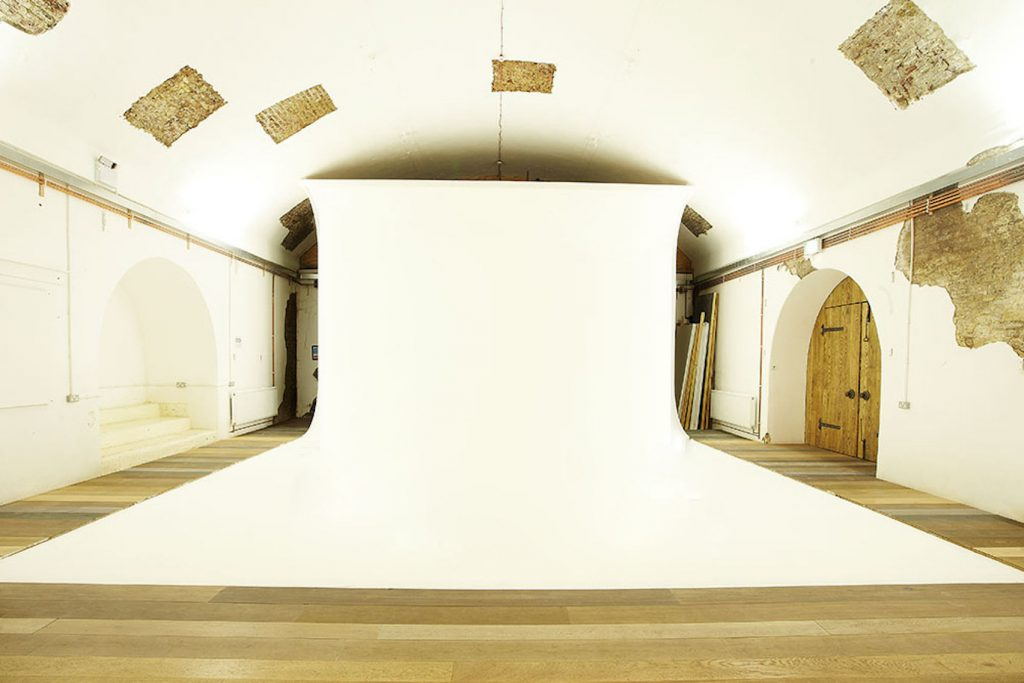 blank canvas photography studio in renovated Victorian railway arch