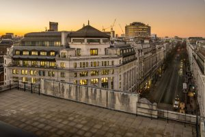bush house roof terrace overlooking London
