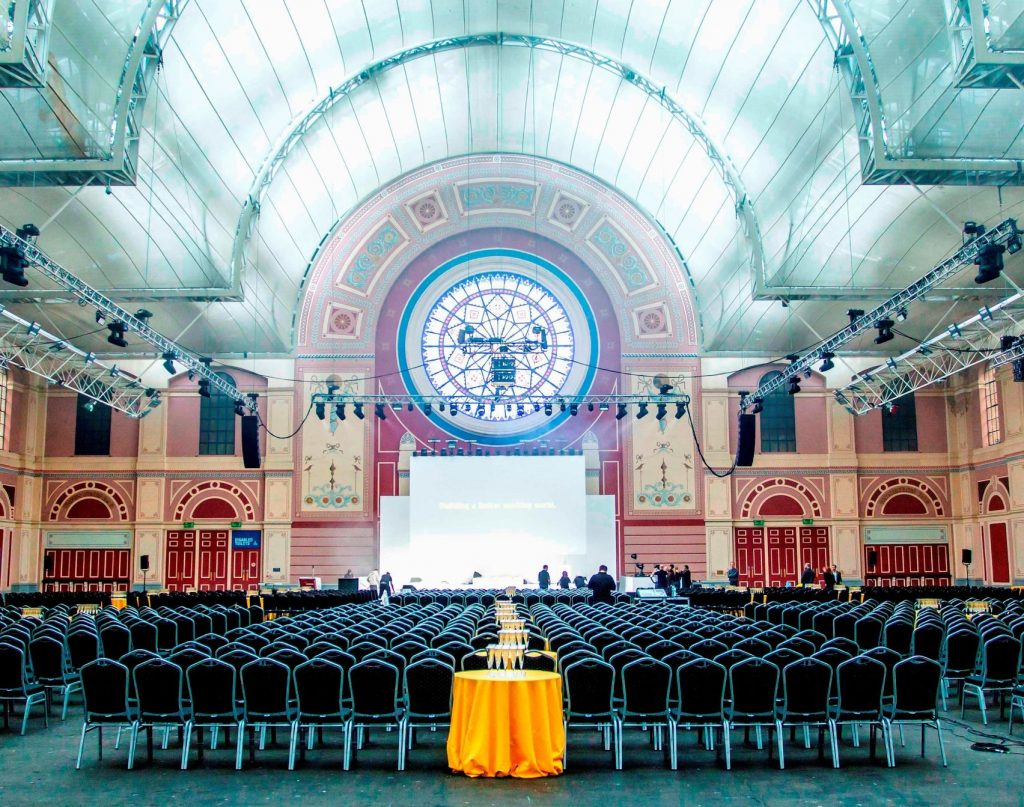 The great hall at Alexandra Palace
