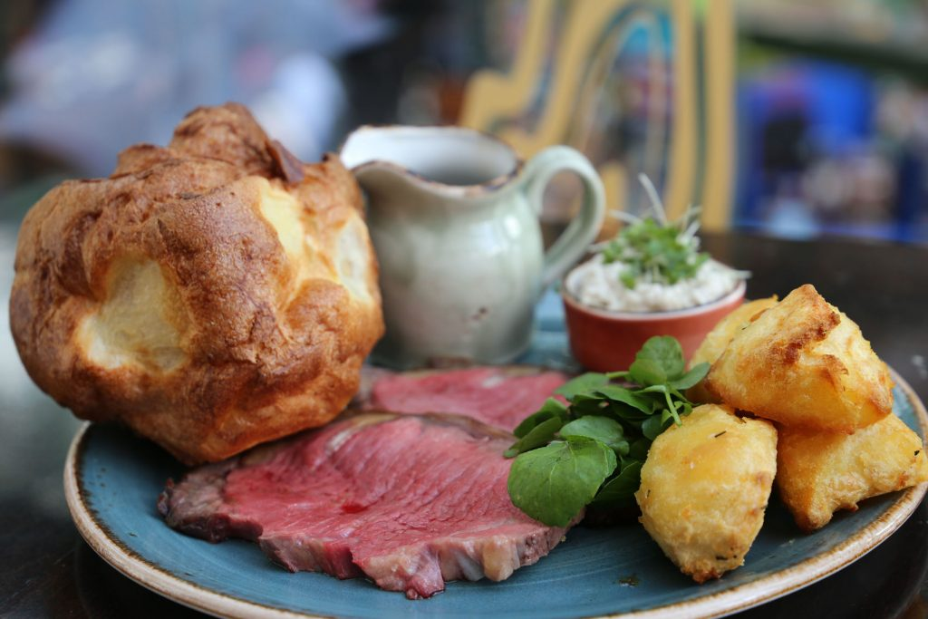 A close-up high resolution image of a roast dinner
