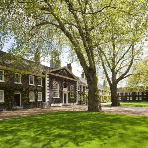 front lawn of the geffrye museum