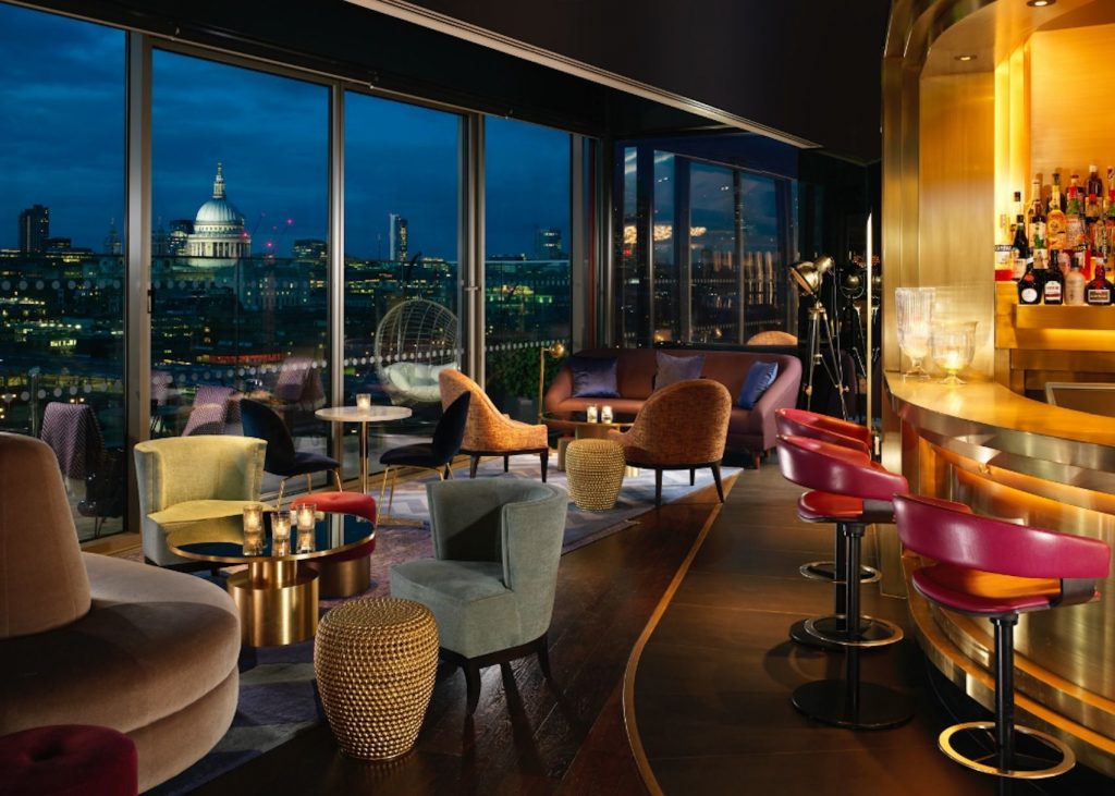 rooftop bar overlooking the thames
