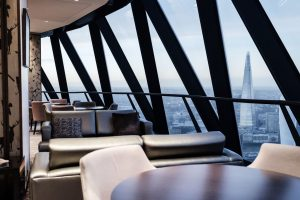 rooftop bar at the gherkin