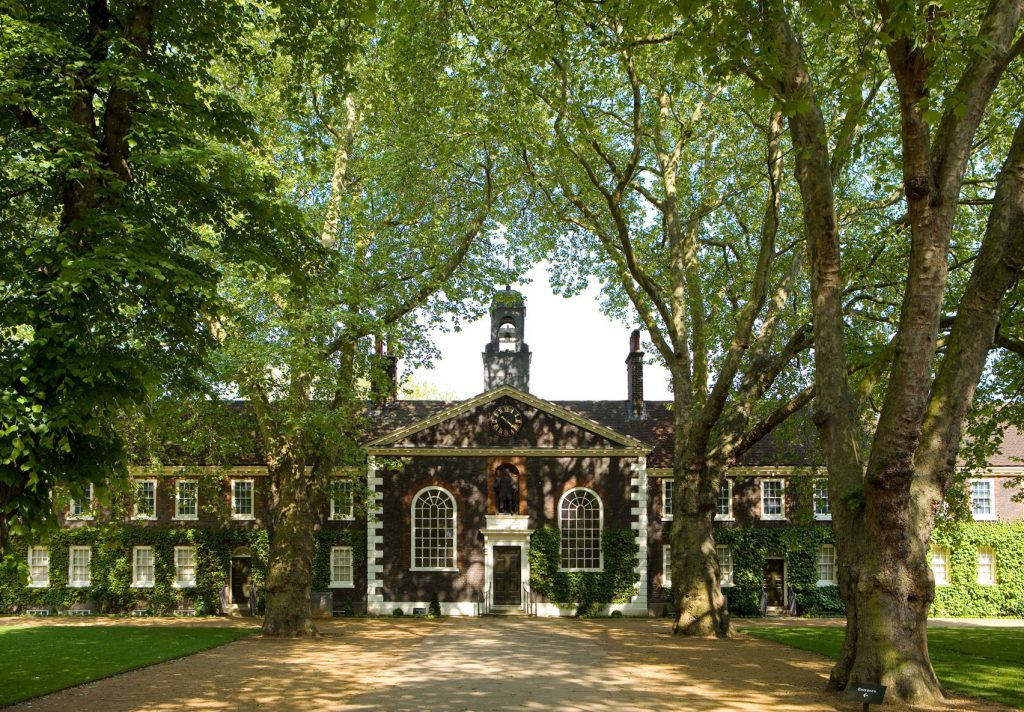 The front lawns of the Geffrye museum.