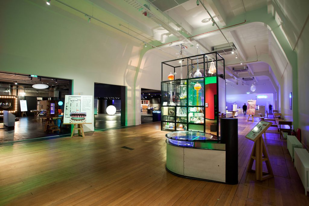 An experimenting lab at the science museum. A creative Space in London.