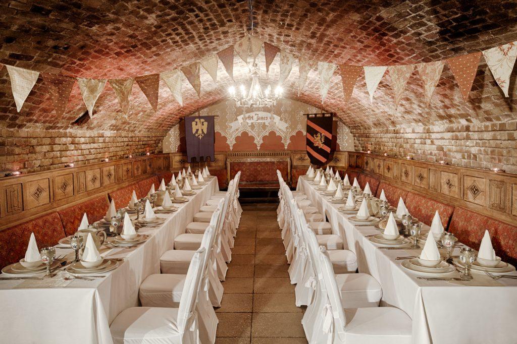 Medieval banquet hall underground
