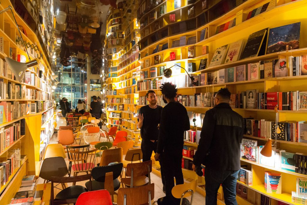An unusual venue hire London. An innovative and iconic bookshop in East London