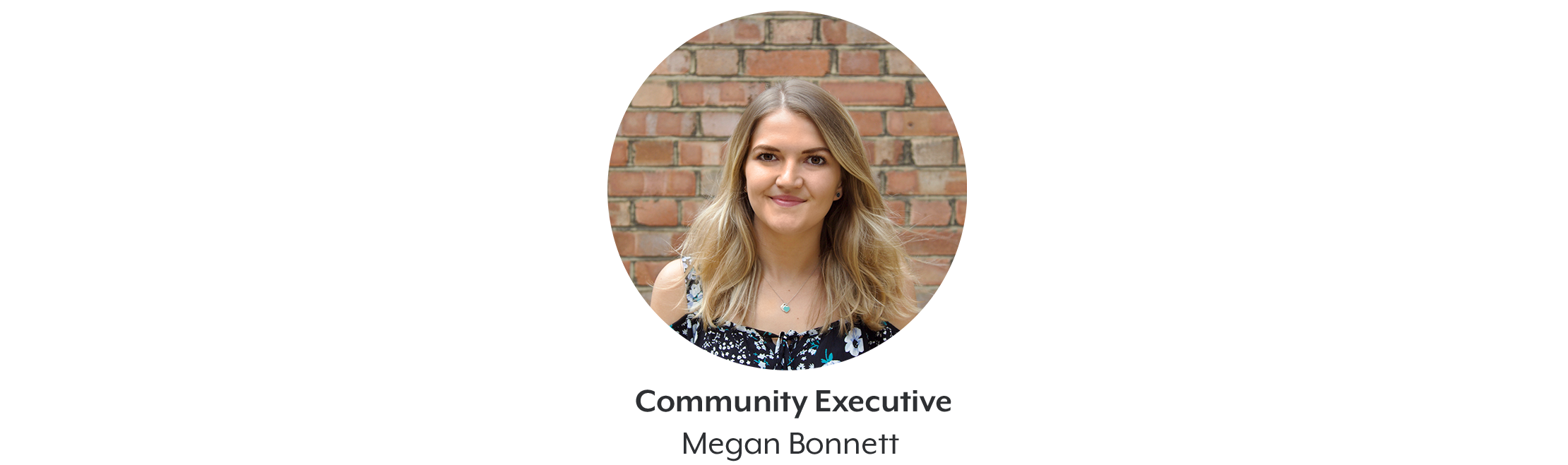 Image of Authors face with text that says: community executive Megan Bonnett