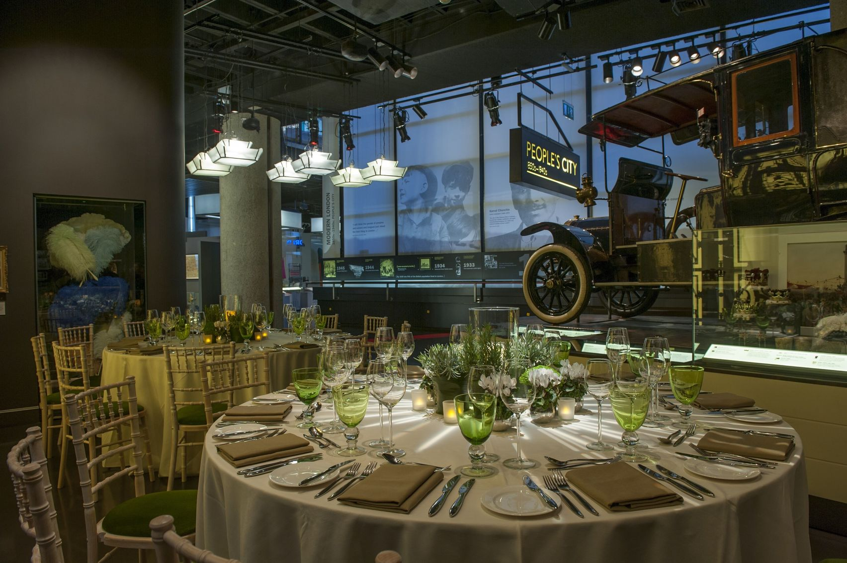 people city garden at the museum of london seat up for a private dining event