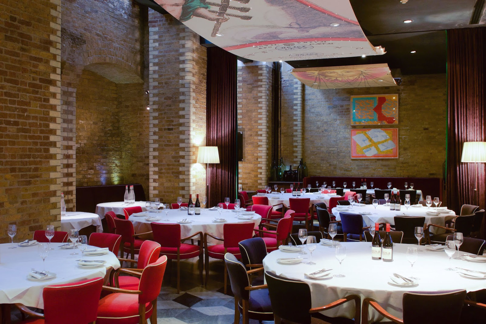 the boundary project in london set up for christmas private dining event