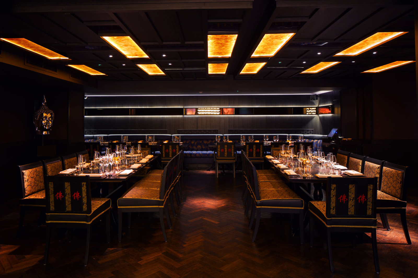 the private dining room at buddha-bar in london