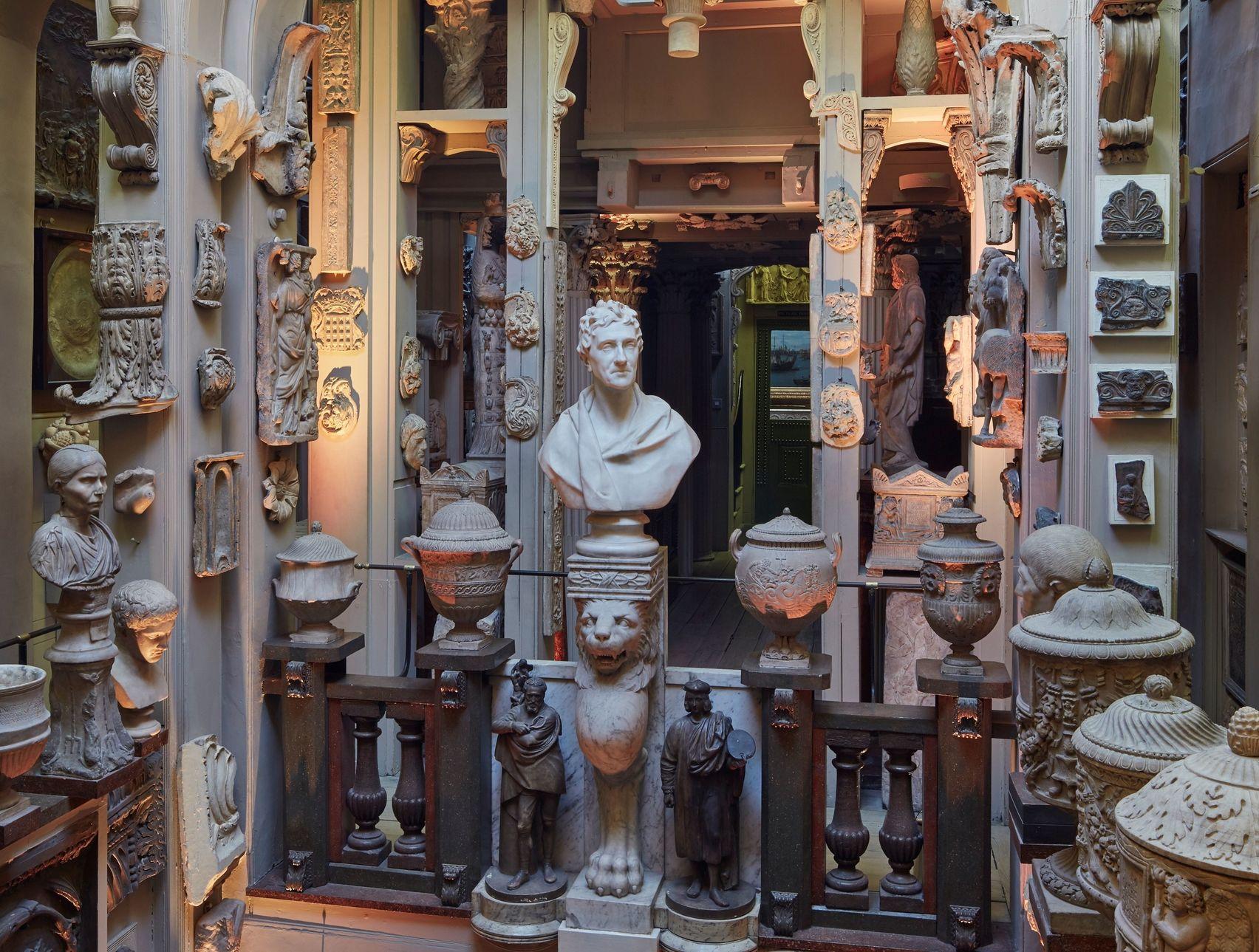 A room full of ceramic sculptures