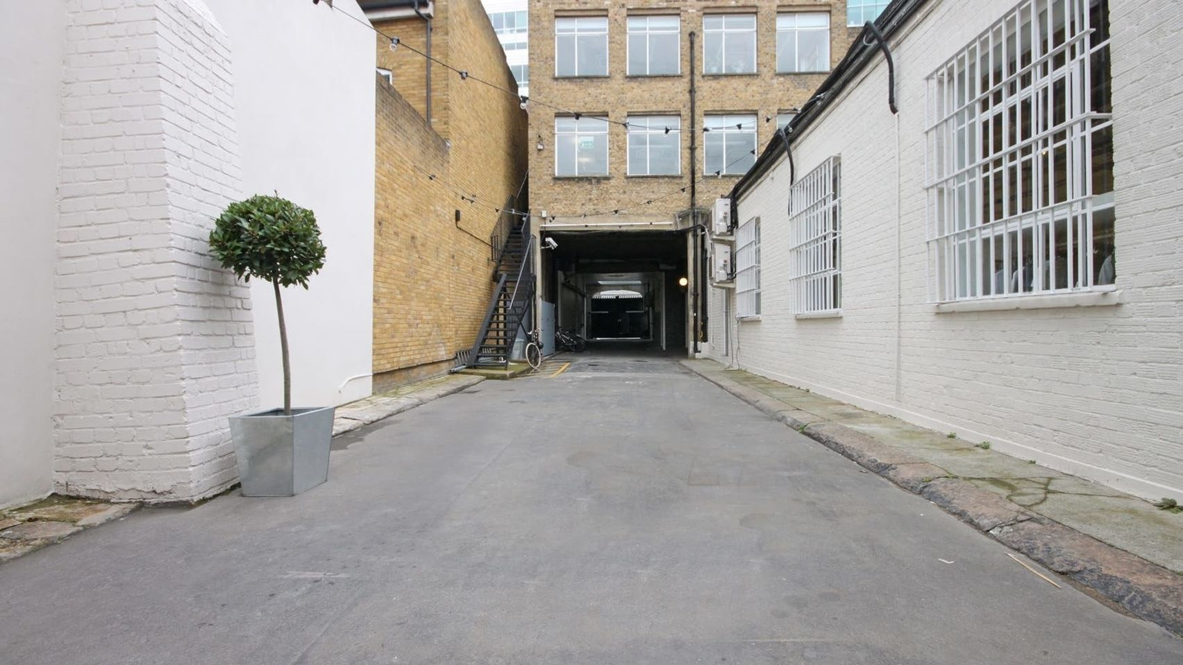 A pathway up to the entrance of The Yard