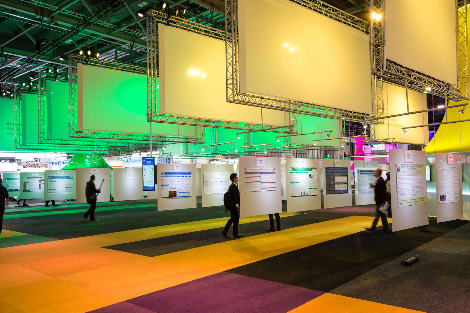 events hall at excel london set up for a large exhibition