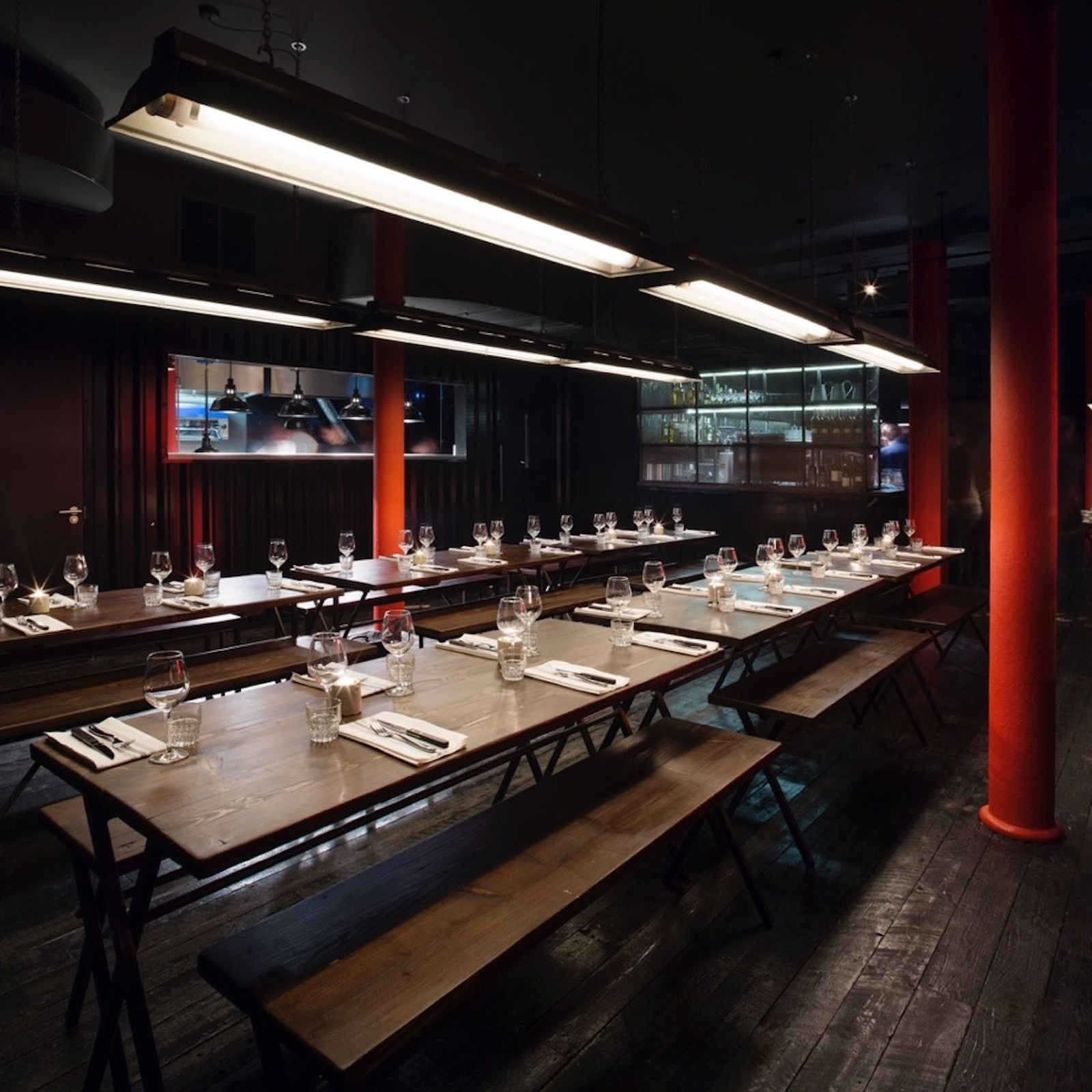 hotbox london set up for christmas private dining