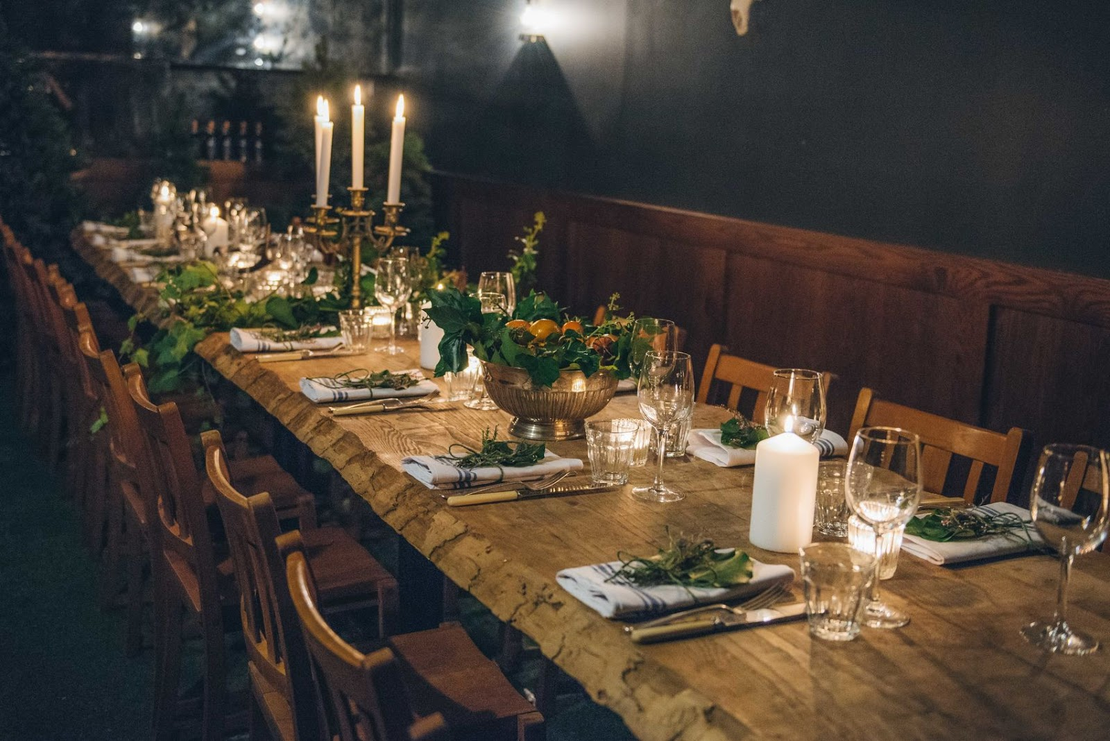 mac and wild restaurant in london set up for christmas private dining