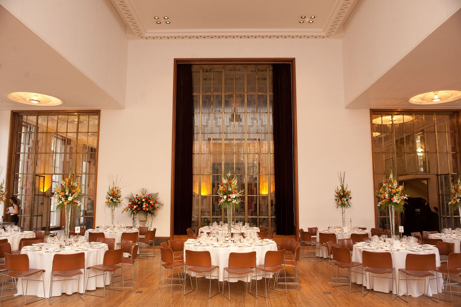 riba set up for a christmas private dining in London