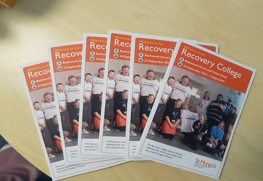 leaflets about the St Mungo's Recovery Centre