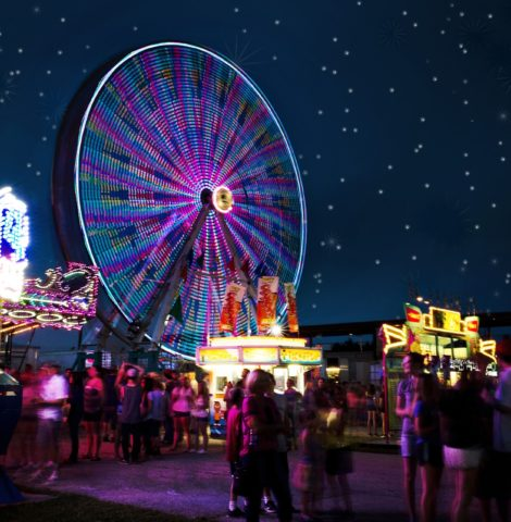 A winter wonderland theme park - one of the best corporate event themes