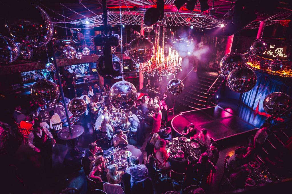The main floor of cafe de paris